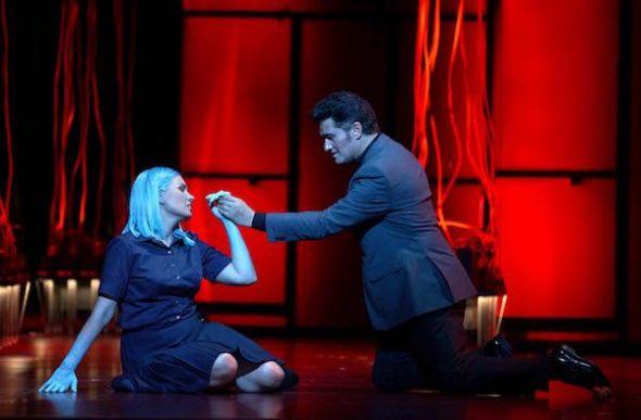 La soprano, Marina Rebeka y el tenor Piotr Beczala en 'Faust' de Gounod. Foto: Javier del Real.