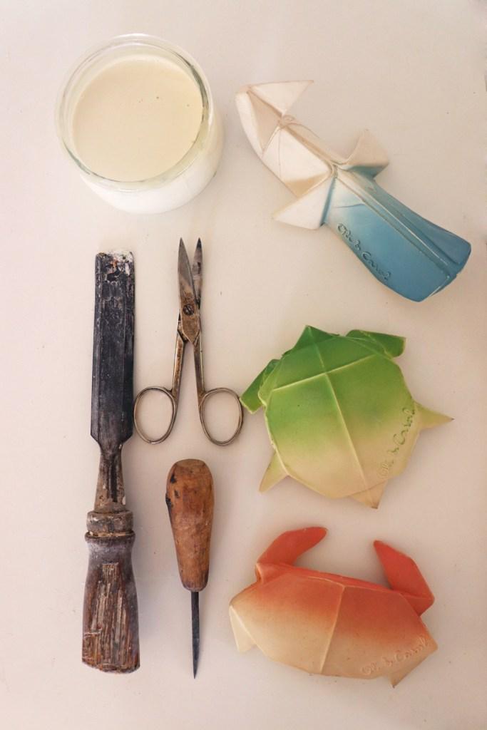 Colección H2Origami de Oli&Carol mordedores de caucho natural