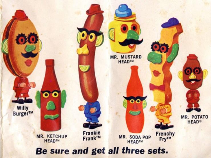 Familia y amigos de Mr. Potato años 50
