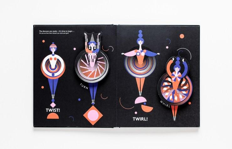 Libro pop-up Bauhaus Ballet. Lesley Barnes. Editado por Laurence King