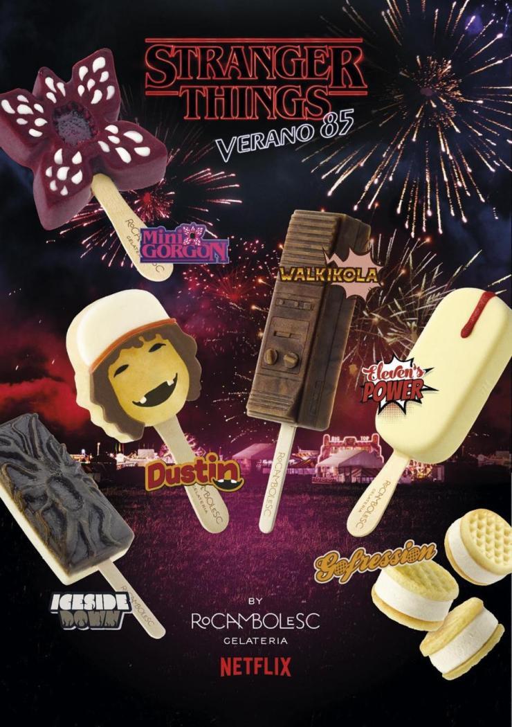 helados Stranger Things Jordi roca Rocambolesc - cartel verano 85