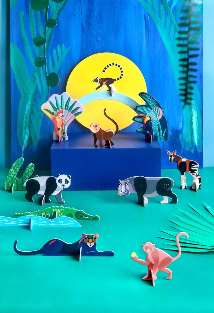 Studio ROOF totems de cartón DIY para niños y decorar. Regalos de diseño originales