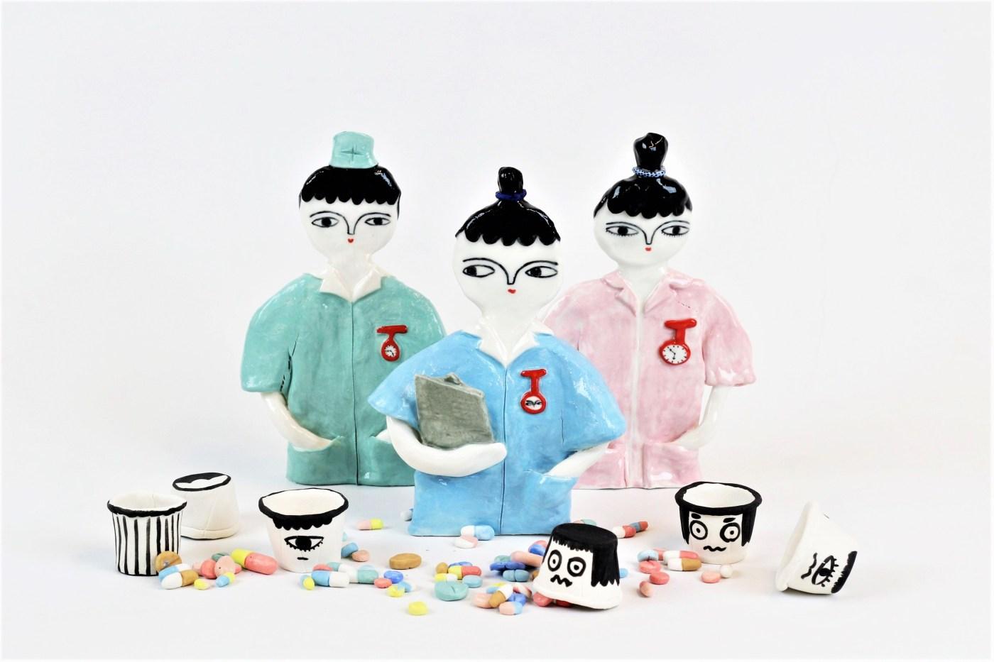 Enfermeras de cerámica Kinska