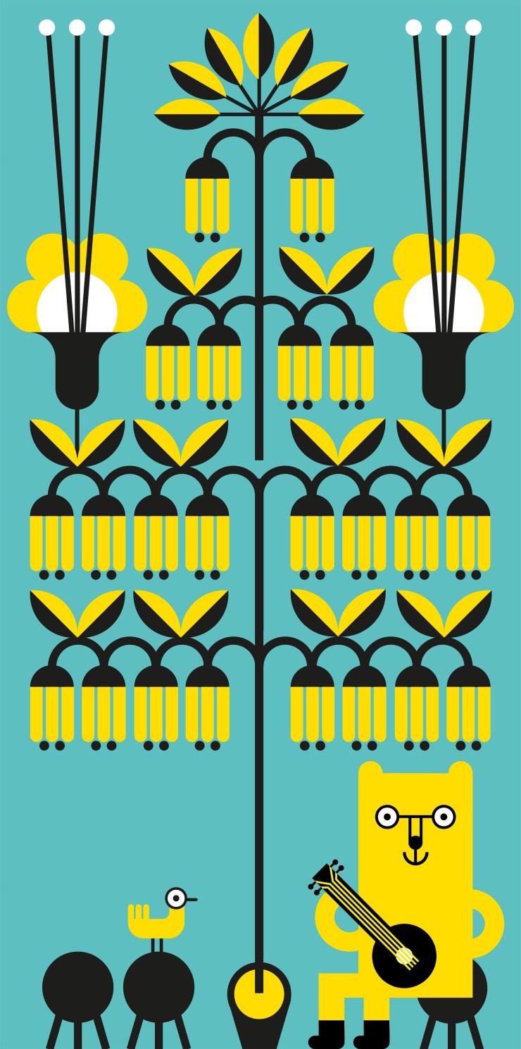 Joana Casals Pelegrí. Ilustración cartel fiesta el Culturista