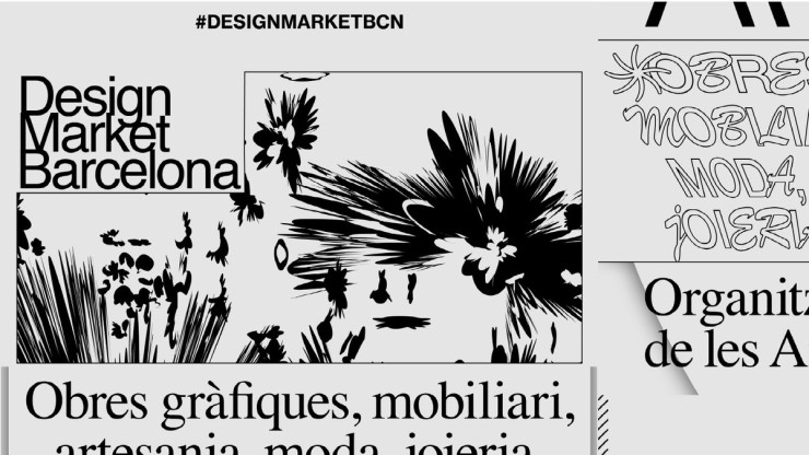 Cartel Design Market 2019 del estudio creativo Naranjo-Exteberria
