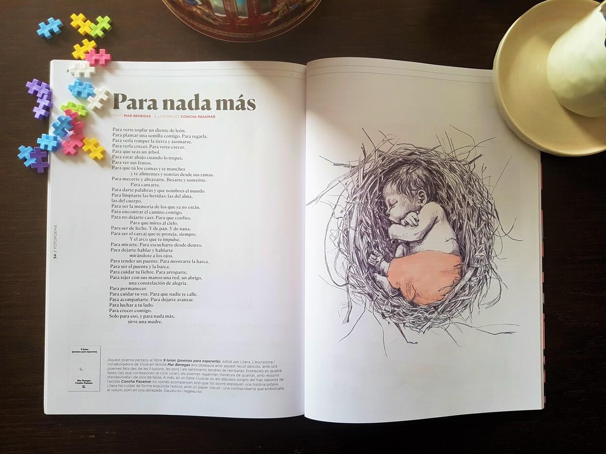 Viure en Familia. Revista familiar sobre criança. Il·lustració fetus