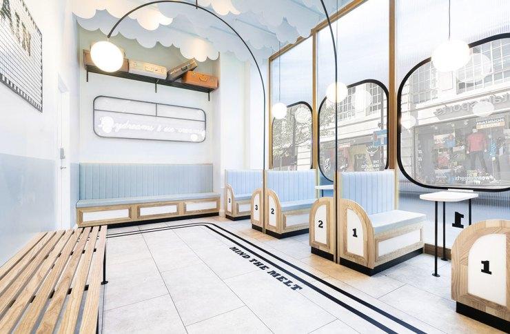 Milk Train heladería Art Déco en Covent Garden, Londres. Muy instagrameable.
