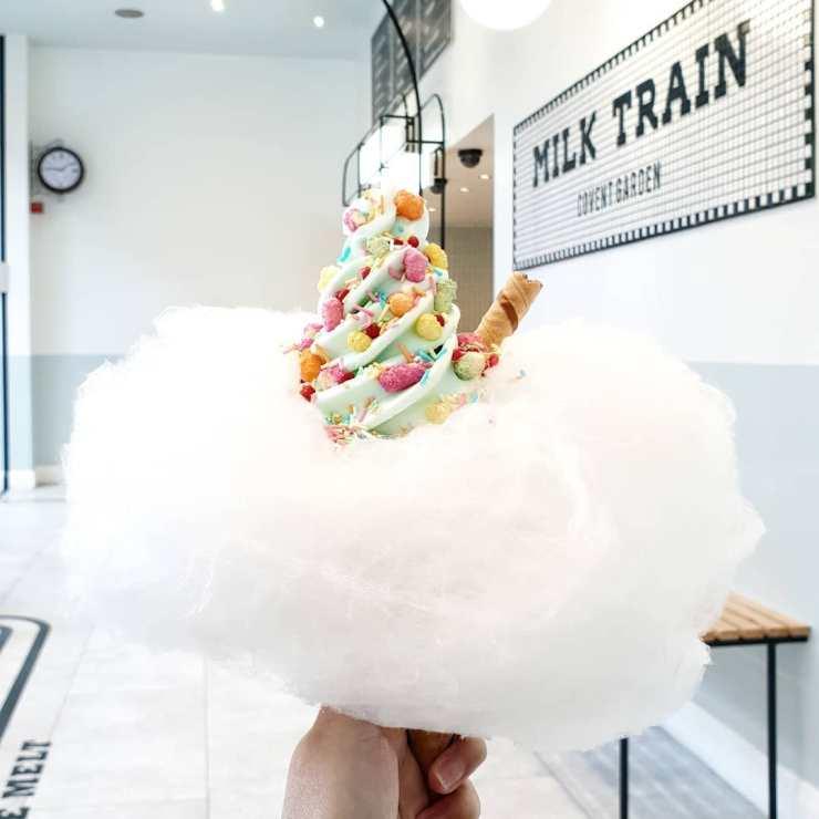 Milk Train heladería Art Déco en Covent Garden, Londres. Muy instagrameable. Helado