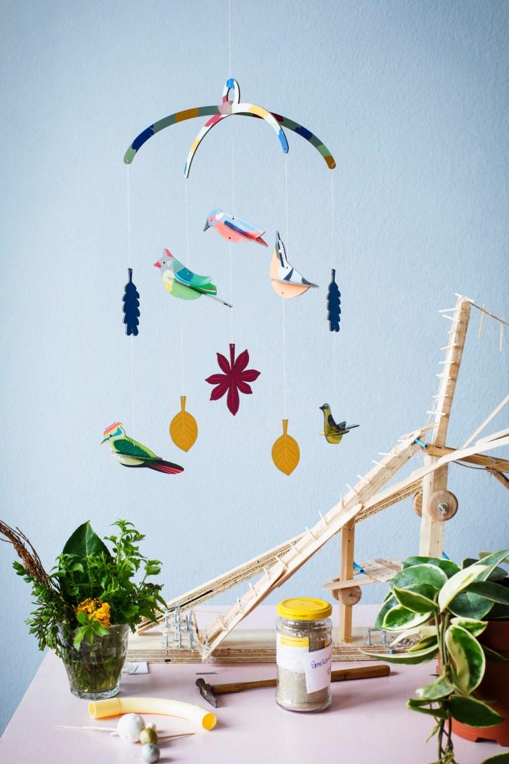 Móvil Decorativo de Diseño. Studio Roof. Pájaros