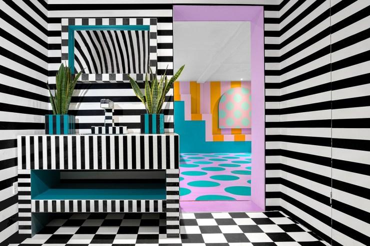 House of Dots. Camille Walala x Lego. Londres. baño