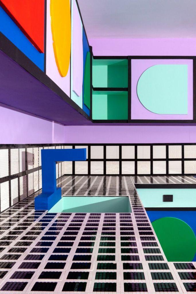 House of Dots. Camille Walala x Lego. Londres. Grifo cocina