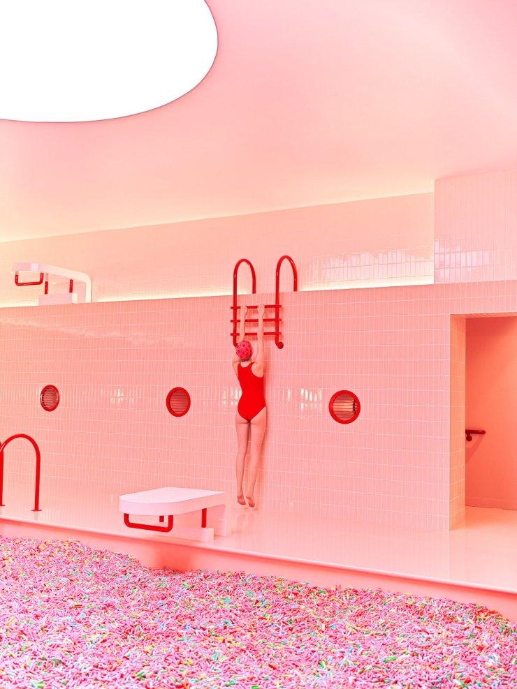 Museum Of Ice Cream fotografías de Maria Svarbova. Piscina rosa