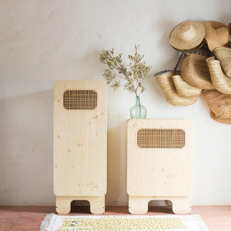 XO In My Room - muebles infantiles.  Armario de madera y rejilla