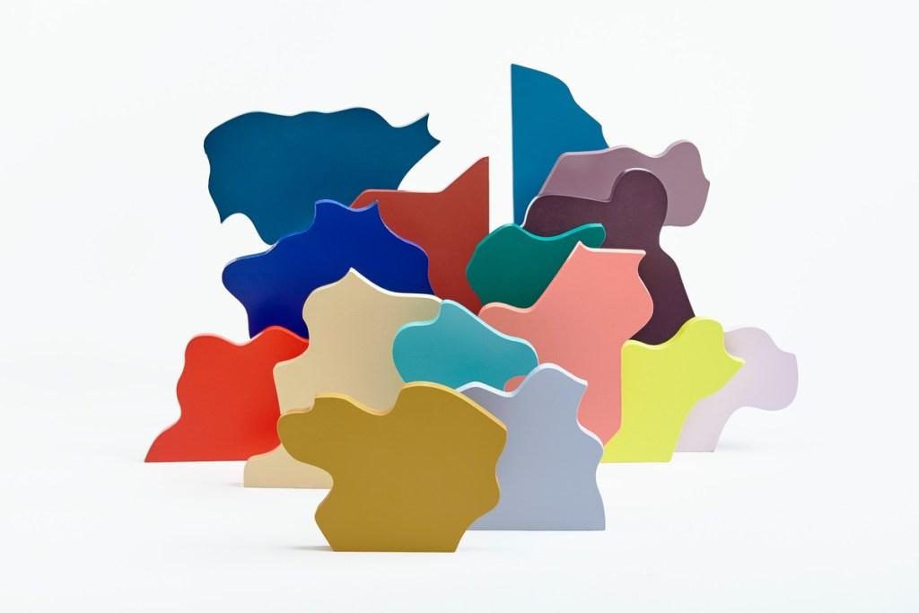 Puzzle bonito decorativo de madera de colores