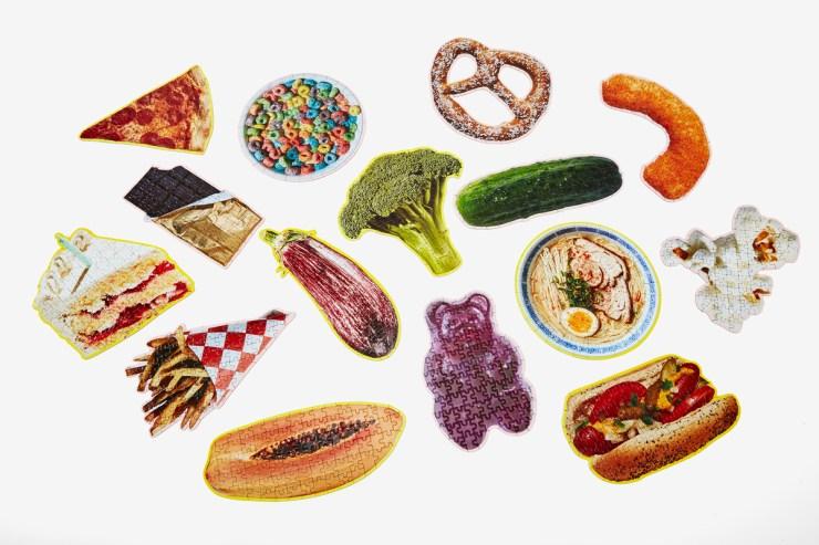 Puzzles divertidos con forma de comida