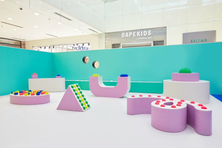 Pastello Mathery Studio. Instalación infantil