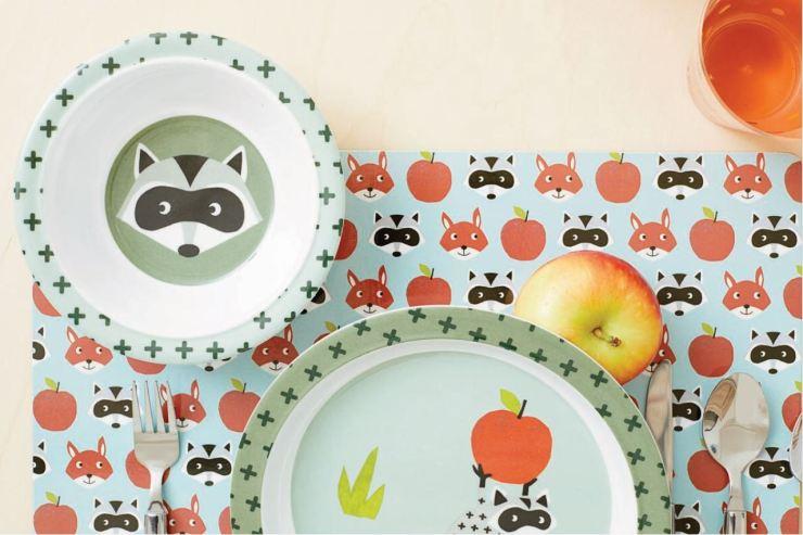 HEMA decoración infatil vajilla melamina niños