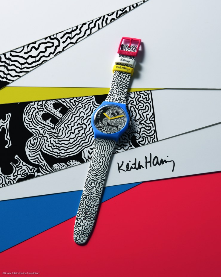 reloj Swatch. Mickey Mouse + Keith Haring