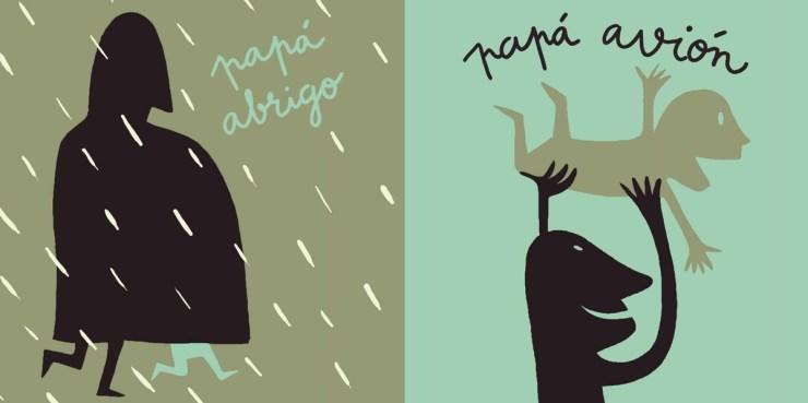 """Libros Día del Padre. """"P de papá"""", Isabel Martins y Bernardo P. Carvalho, Editorial Kalandraka"""