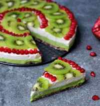 Fruchtiger Kuchen ohne zu backen   vegan, gf - Elavegan