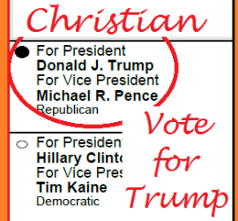 I'm a Christian Vote for Trump
