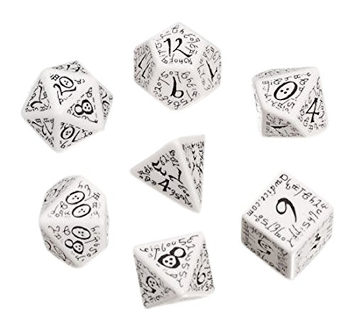 Elven Dice set Black/white 7 Board Game