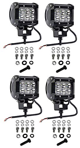 LED Pods, DJI 4X4 2Pcs 4 inch 72W Triple Row LED Light Bar