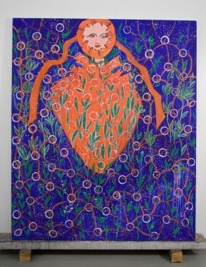 the Seedling Heart 72(in) x 60(in) 2002 Collection of Family