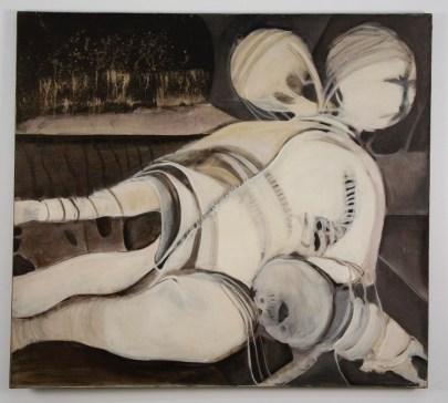 """Elba Damast, """"Tiempo Programado,"""" 1972 44(in) x 50(in) Collection of Family"""