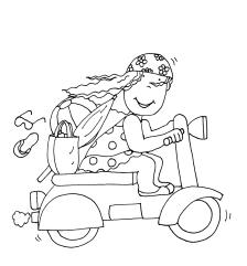 pintar niña con moto