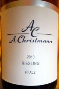 A.Christmann Pfalz Riesling 2010