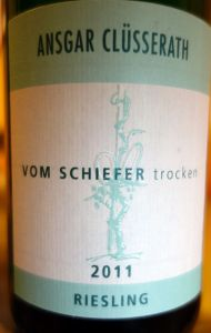 Ansgar Clüsserath Vom Schiefer riesling trocken 2011