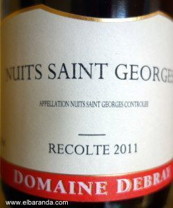 Domaine Debray Nuits Saint George