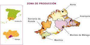Mapa de Situación de la Serranía de Ronda