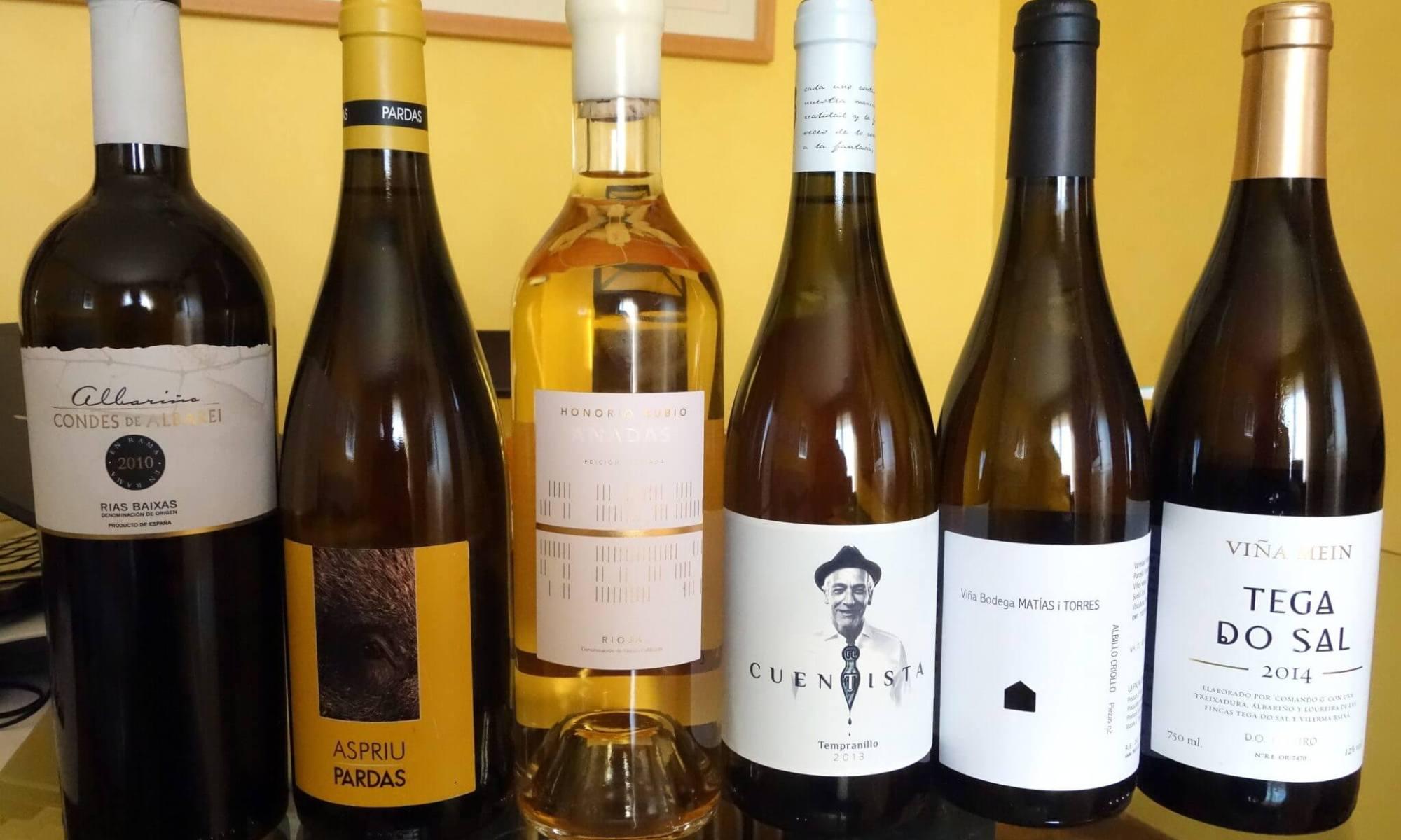 Los vinos de la cata. Blancos