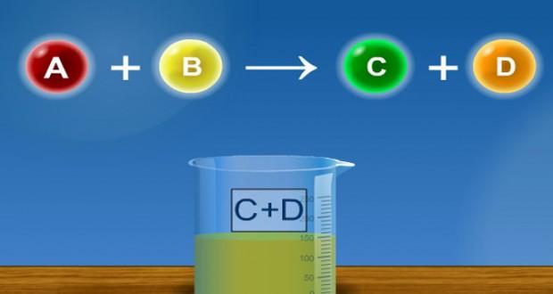 تطور كميات المتفاعلات  والنواتج خلال تحول كيميائي