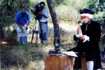 """Víctor en el rodaje del documental """"Els camins de Cavanilles"""" en 2005"""