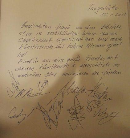 """Eintragung der """"Don Kosaken"""" in das Buch der """"ElbchorChronik"""