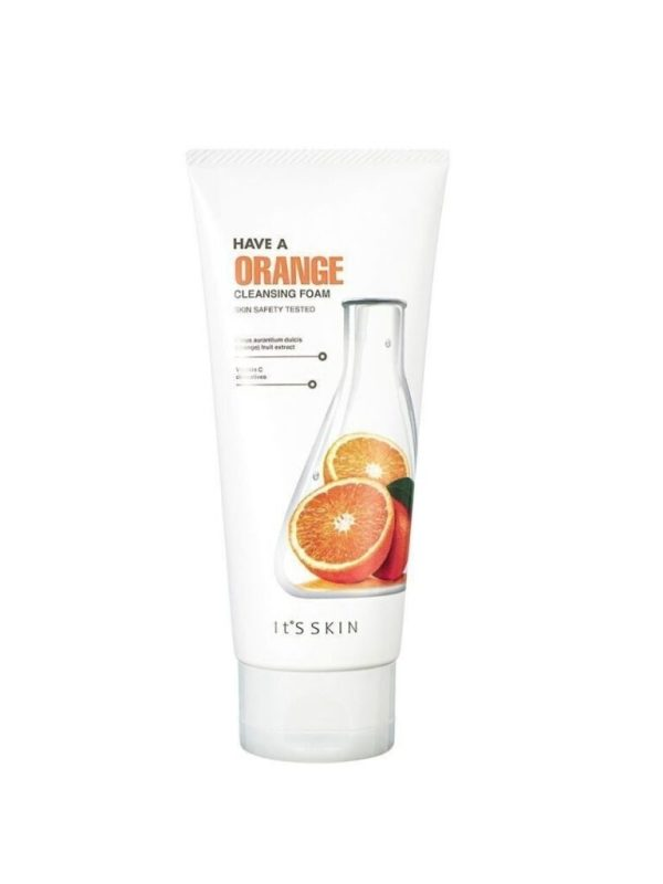 have a orange cleansing foam its skin