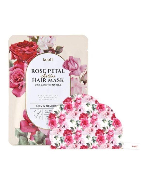 petitfee rose petal hair mask