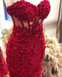 Alfabeta Satılık Kırmızı Kına Elbisesi
