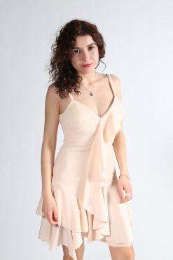 Alfabeta Pudra Rengi Elbise Kiralık