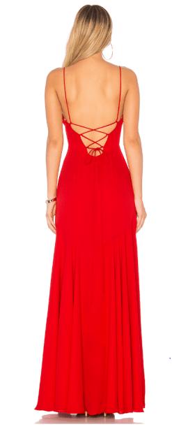 Fame And Partners Kiralık Kırmızı Elbise
