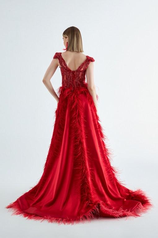 Figen Bağzıbağlı Kırmızı Elbise