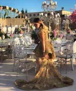 Sagaza Madrid Gold Rengi Nişan Elbisesi