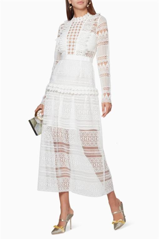 Alexis Kiralık Beyaz Dantel Elbise