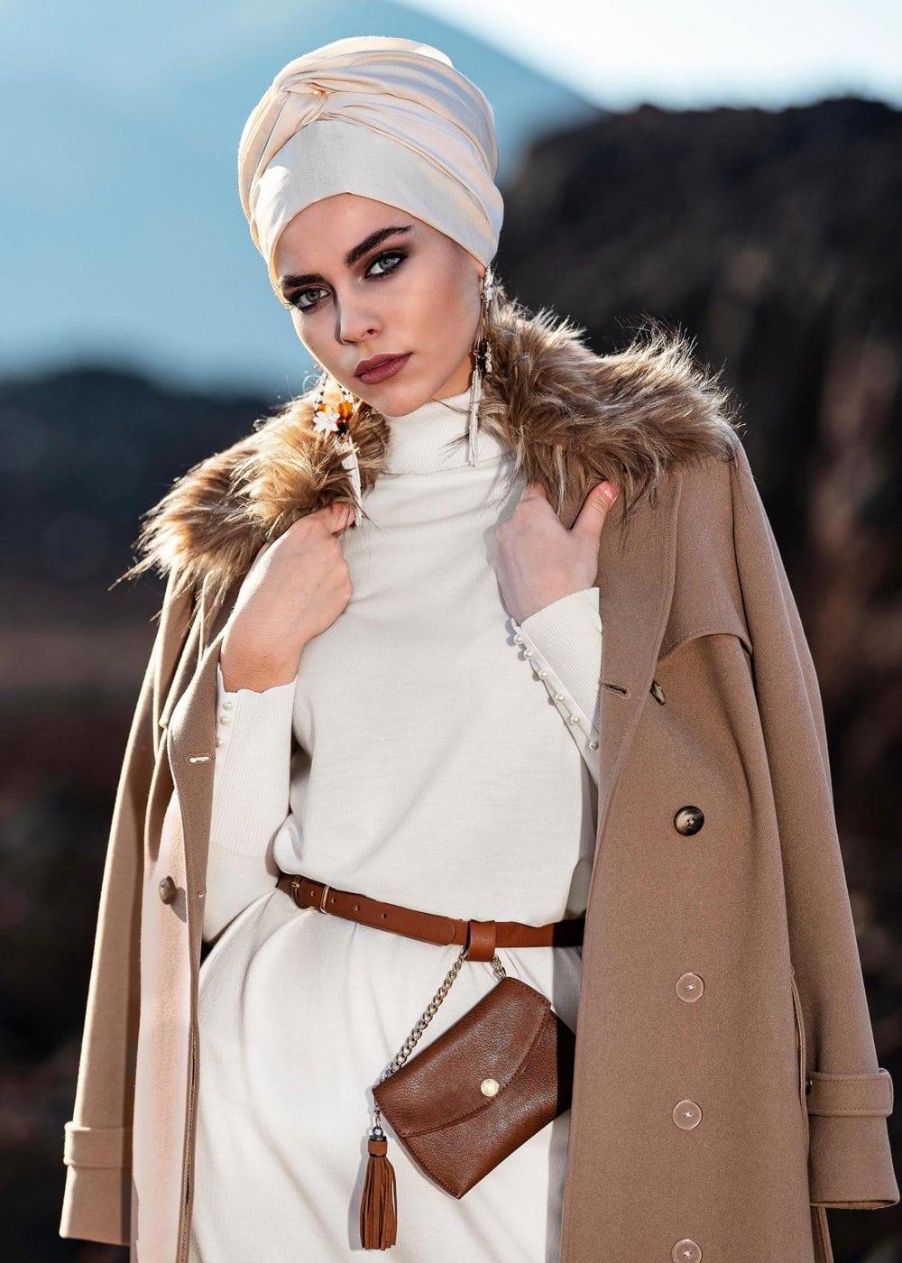 Tesettür Giyim Manto Modelleri
