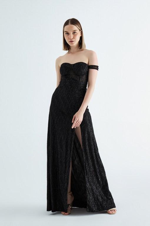 Ayelet Siyah Kiralık Elbise