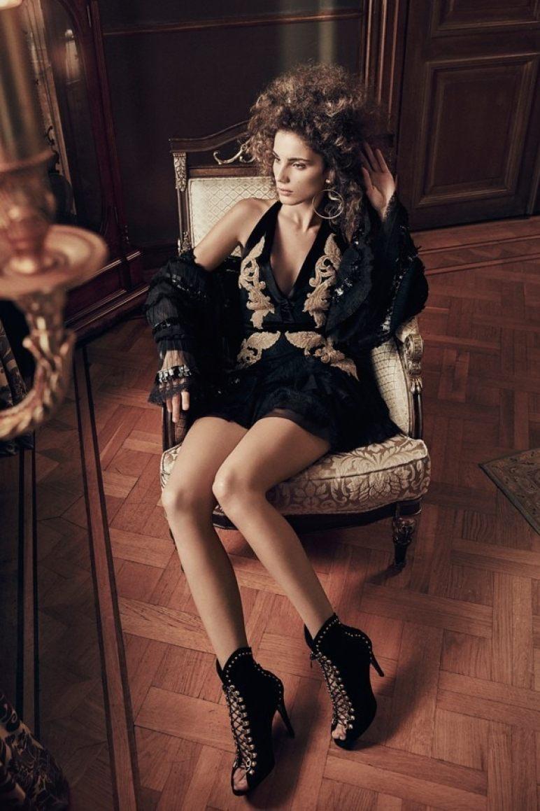Raisa-Vanessa-Siyah-Gece Elbisesi
