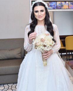 Heva Bridal Uzun Kollu Kiralık Gelinlik Modelleri